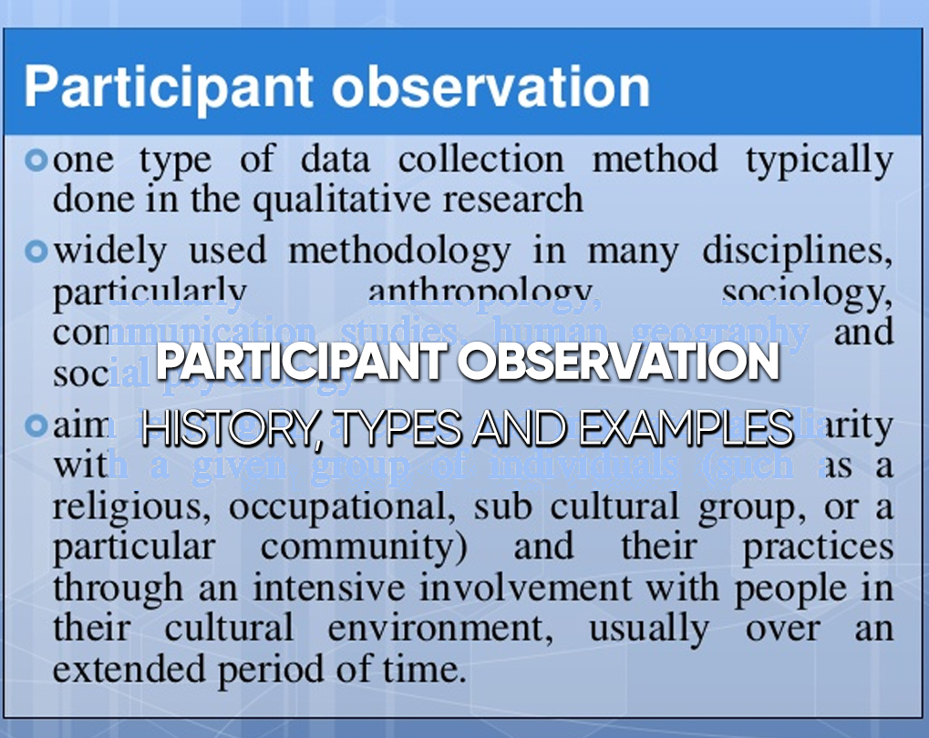 Participant Observation – History, Types and Examples